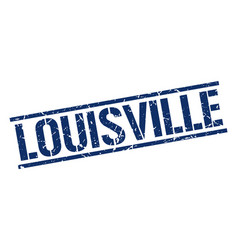 Louisville blue square stamp vector