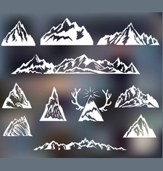 Mountains set vector