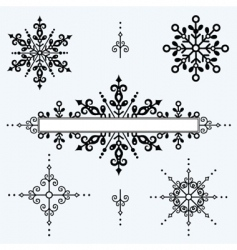 ornament set vector image vector image