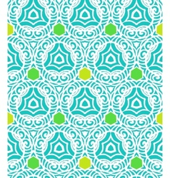 Pattern in tropical blue in hipster style vector image vector image