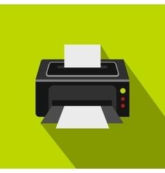 Photo printer icon flat style vector