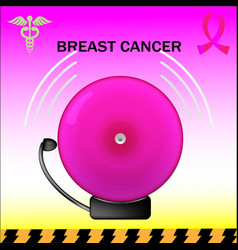 Pink alarm breast cancer vector