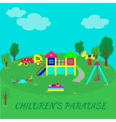 Playground into flat style vector image