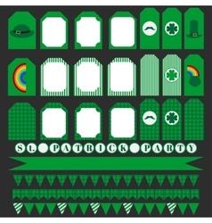 Printable set of saint patrick party elements vector