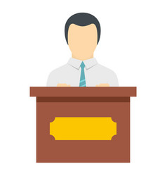 Public speaker icon isolated vector