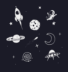space objects set vector image vector image