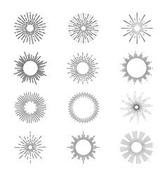 Sunbursts vector image