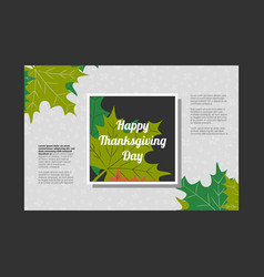Thanksgiving day banner vector