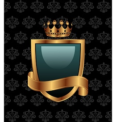 vintage with heraldic elements - vector image