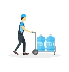 Water delivery boy or man vector