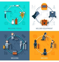 Welder Design Concept Set vector image
