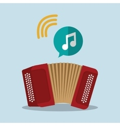 Accordion music sound instrument vector