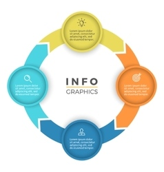 Four steps infographics design element vector image