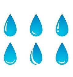 Water droplet set vector