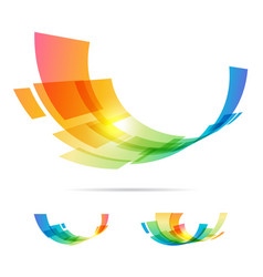 Set tech abstraction elements vector