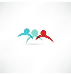 Business partners sign vector