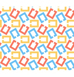 Chain links abstract geometric seamless pattern vector
