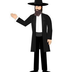 Orthodox jewish man vector