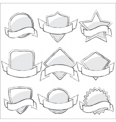 labels collection sketch vector image