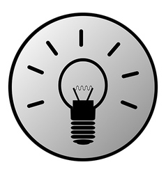 Light bulb button vector