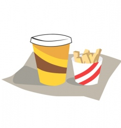 wafers and drink vector image