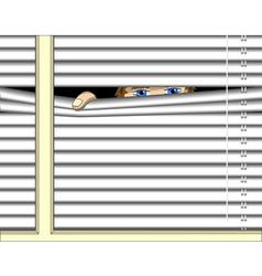 peeping vector image