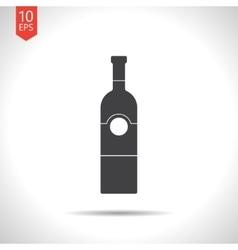 Flat vine bottle vector