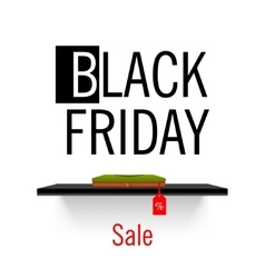 Black Friday sales Shelf store vector image