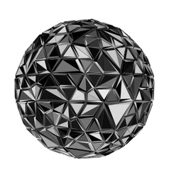 Geometric black polygonal ball vector
