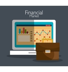 Financial market graphic vector