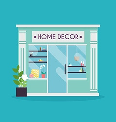 Home decor facade decor shop ideal for market vector