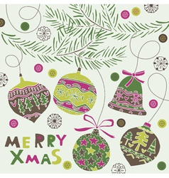 Merry xmas greeting vector