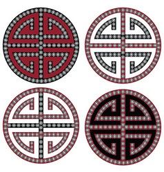 Oriental symbols vector image