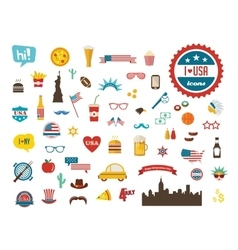 American design elements happy independence day vector