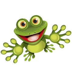 Happy frog vector