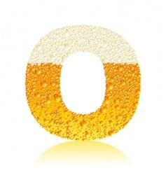 alphabet beer o vector image vector image