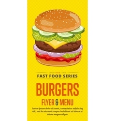 Burgers sale flyer vector