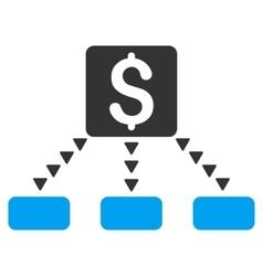 Cashout scheme flat symbol vector