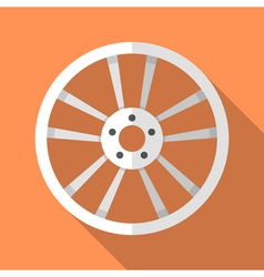 Colorful car disk wheel rim icon in modern flat vector image