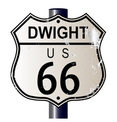 dwight route 66 sign vector image vector image