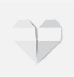 fold a piece of paper as a heart shape vector image