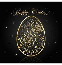 Happy Easter greeting card vector image