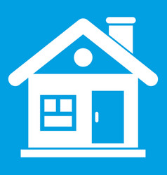 House icon white vector