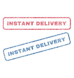 Instant delivery textile stamps vector