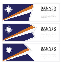 Marshall islands flag banners collection vector