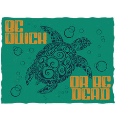 nautical t-shirt label design vector image vector image