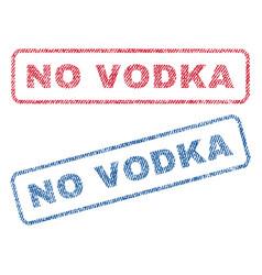 No vodka textile stamps vector