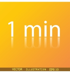 One minutes icon symbol Flat modern web design vector image
