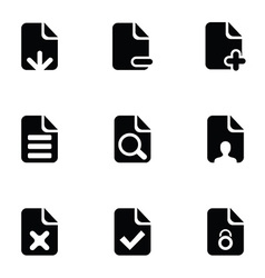page icons set vector image vector image