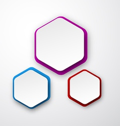 Paper white hexagonal notes vector image vector image